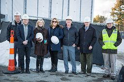 Trustees Tour the Construction Site