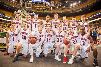 Varsity Basketball Plays at the TD Garden