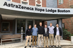 Members of the Class of 2018 and 2022 Visit the Hope Lodge