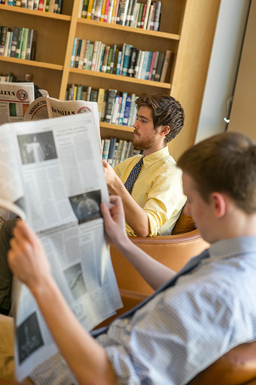 students' reading school newspaper
